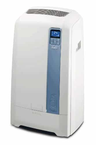 DeLonghi PAC WE112ECO – aire acondicionado portátil (A+, 1000W, 1 kWh, Color blanco, LCD, 50,5 cm)