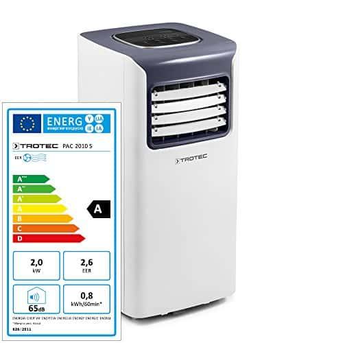 Trotec Local–Climatizador portátil Pac 2010S con 2,0kW/7.000btu (eficiencia energética: A) de 3en 1de climática dispositivo: enfriamiento, ventilación, entfeuchtung