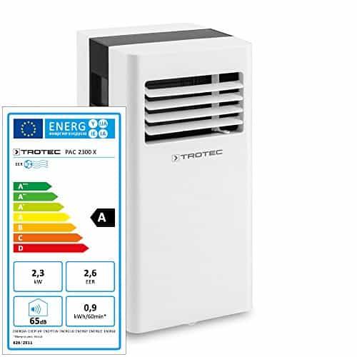 TROTEC Acondicionador de aire local PAC 2300 X de 2,3 kW / 8.000 Btu (EEK:A) acondicionador de aire 3-en-1: refrigeración, ventilación, deshumidificación