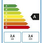Trotec Acondicionador de aire local PAC 2610 E de 2.6 kW / 9.000 Btu (EEK: A) 3-en-1 del acondicionador de aire: refrigeración, ventilación, deshumidificación