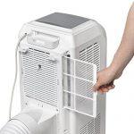 TROTEC Acondicionador de aire local PAC 2000 E de 2,1 kW / 7.200 Btu, EEK A (Función temporizador, Mando a distancia infrarrojo, Tres velocidades de ventilación, Dirección de soplado ajustable)