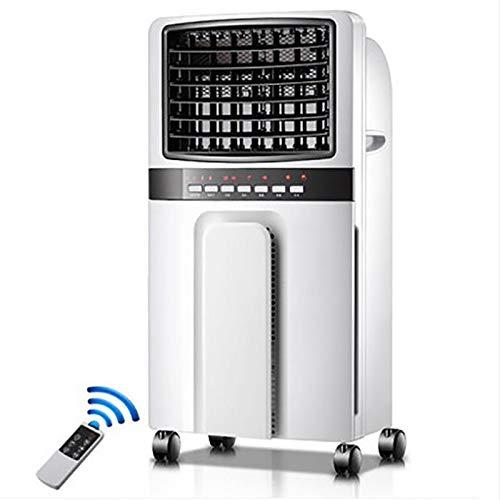 AY-XJJDCB Enfriador De Aire Portátil De Pie, con Control Remoto Enfriamiento/Calefacción Móvil, 3 Velocidades Tanque De Agua De 5L, Voltaje 220V, Adecuado para El Hogar/Oficina (Color : Blanco)